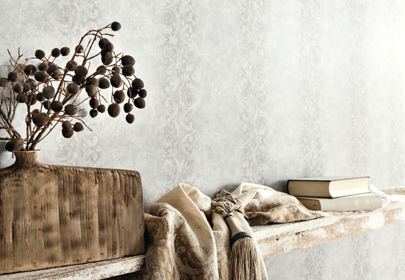 Detailbild von Fuggerhaus Wallcoverings Tapete Due Corde aus der Kollektion Ensemble.
