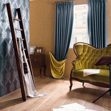 Fuggerhaus Wallcoverings Tapeten Barcarole und Tonica aus der Kollektion Ensemble.